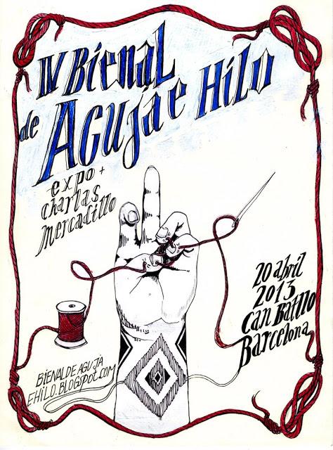 cartel bienal de aguja e hilo